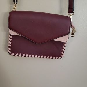 Melie Bianco ] maroon and blush crossbody purse